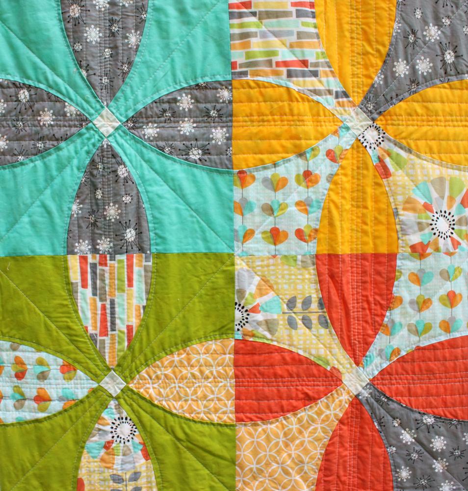 Michael Miller Challenge Quilt ::: front detail